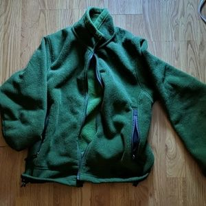 REI green hoodie